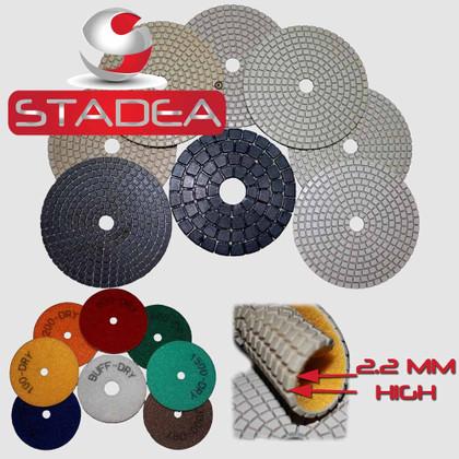 Stadea 7 Inch Diamond Polishing Pad Dry For Concrete Travertine Marble Floor Polishing Restoration