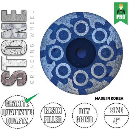 "Stadea Diamond Cup Grinding Wheel 4"" for Quartzite Granite Quartz Petrified Wood Agate Concrete Grinding Sanding, Series Ultra G"