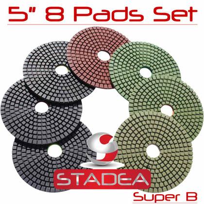 """5"""" DIAMOND POLISHING PAD GRANITE MARBLE 8 PCS SET Super"""