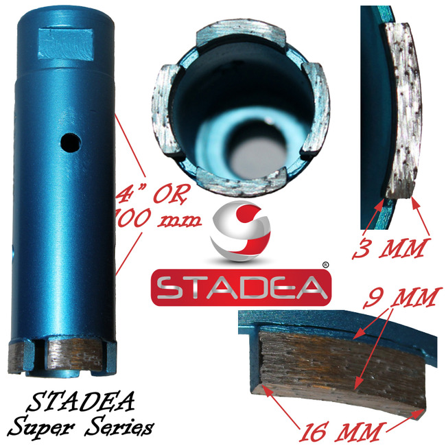 Stadea masonry concrete diamond hole saw core drill bits - 35mm or 1 3/8