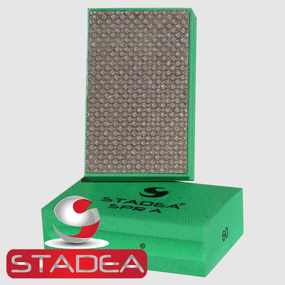 4 Pads Set Glass Marble Concrete Stone Hand Polishing Stadea HPW107K Diamond Hand Polishing Pads
