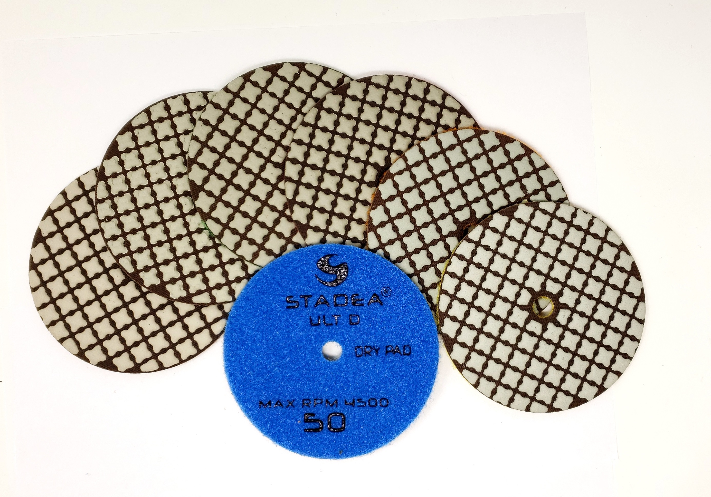 "STADEA Diamond Polishing Pads 4/"" Wet//Dry Set For Concrete Variable Speed Grinder"