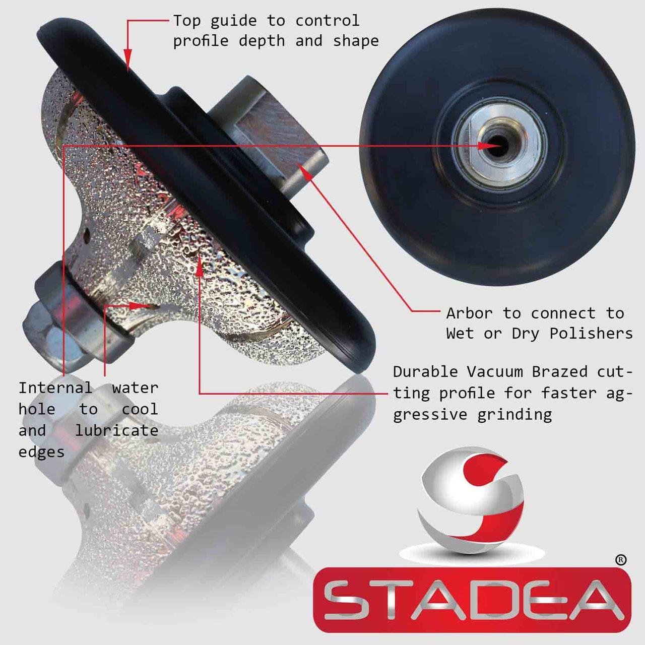 and Stone Countertops Marble Concrete Tile 1-1//4 Core Bits for Granite Concrete