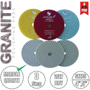 Granite Polishing Pads 3 Step Stadea Diamond Polishing