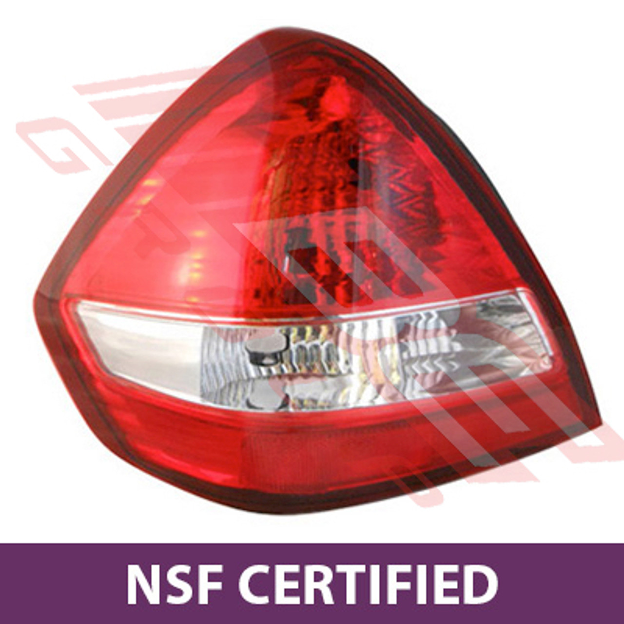 1601898-05CF - REAR LAMP - L/H - CLEAR PLASTIC (NO LINES) - CERTIFIED NSF  TO SUIT NISSAN TIIDA - SC11 - 4DR JAP F/LIFT & ALL NZ