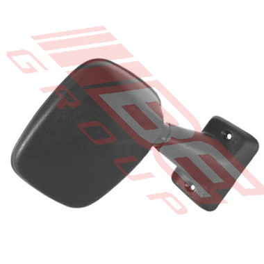 8123016-2 -DOOR MIRROR -R/H -BLK W/PLSTC ARM -TO SUIT TOYOTA HILUX 2WD/4WD 1984-88