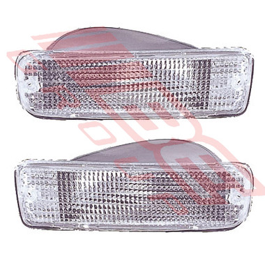 8126097-09 -BUMPER LAMP SET -L&R -CLEAR -TO SUIT TOYOTA HILUX SURF -KZN185 -96-99 EARLY