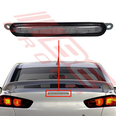 3724398-00-REAR LAMP - HIGH STOP ON BOOTLID-TO SUIT MITSUBISHI LANCER CY 2008-