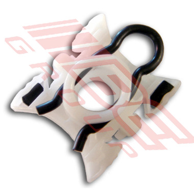 0060010-CLIP -PLASTIC CLIP -WINDOW REG TO GLASS -TO SUIT BMW 3'S E32/4/6 1991- 2DR -4DR