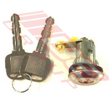 3430061-2 -DOOR LOCK CYLINDER -W/KEY -R/H -TO SUIT MAZDA 323 SDN-H/B 1981-85