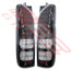 8194198-52PG -REAR LAMP -SET -L&R -BLACK -LED -CLEAR LENS -TO SUIT TOYOTA HIACE 2004-