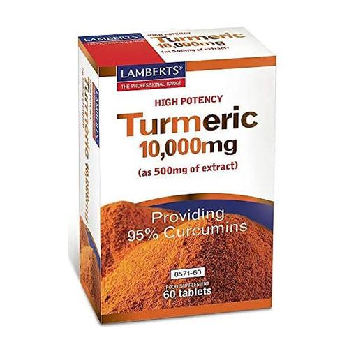 LAMBERTS TURMERIC 10000MG TABLETS 60