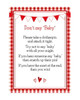 Don't Say Baby Red Gingham BBQ Baby Shower Game