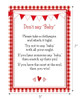 Don't Say Baby Red Gingham BBQ Baby Shower Game with Measurement