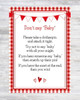 Don't Say Baby Red Gingham BBQ Baby Shower Game with Background