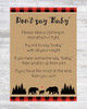 Don't Say Baby Lumberjack Buffalo Plaid Shower Game with Background