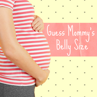 Guess Mommy's Belly Size Baby Shower Game