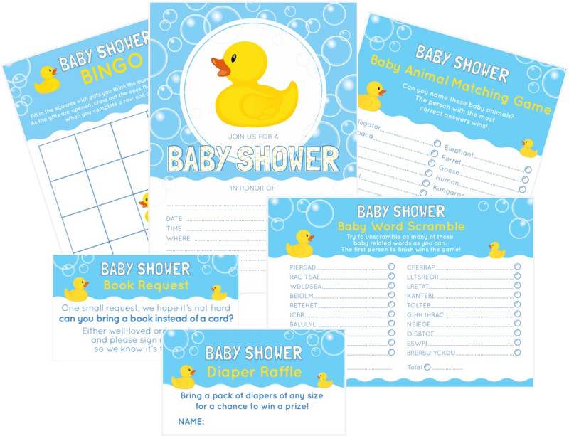 Host a Classic Rubber Ducky Themed Baby Shower