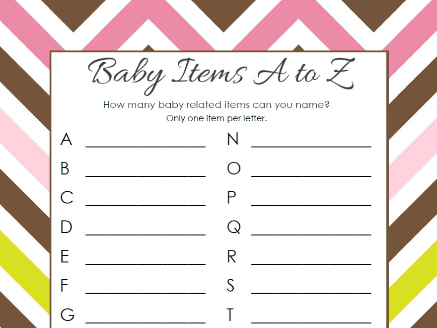 Free Baby Shower Game Printables Oh My Baby Shower