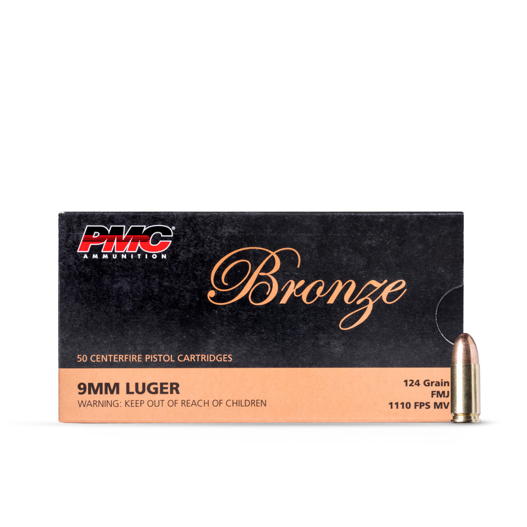 9MM 124GR FMJ PMC Bronze (50 rounds)