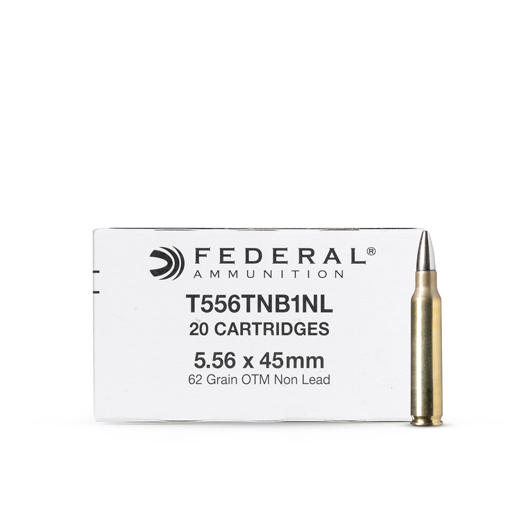 """5.56 62GR OTM Non Lead  """"Silver Bullet"""" FEDERAL (100 rounds)"""