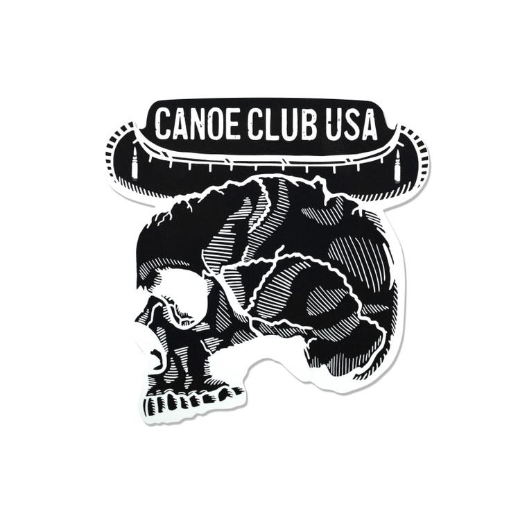 Canoe Club USA Stickers 7x7 Inch