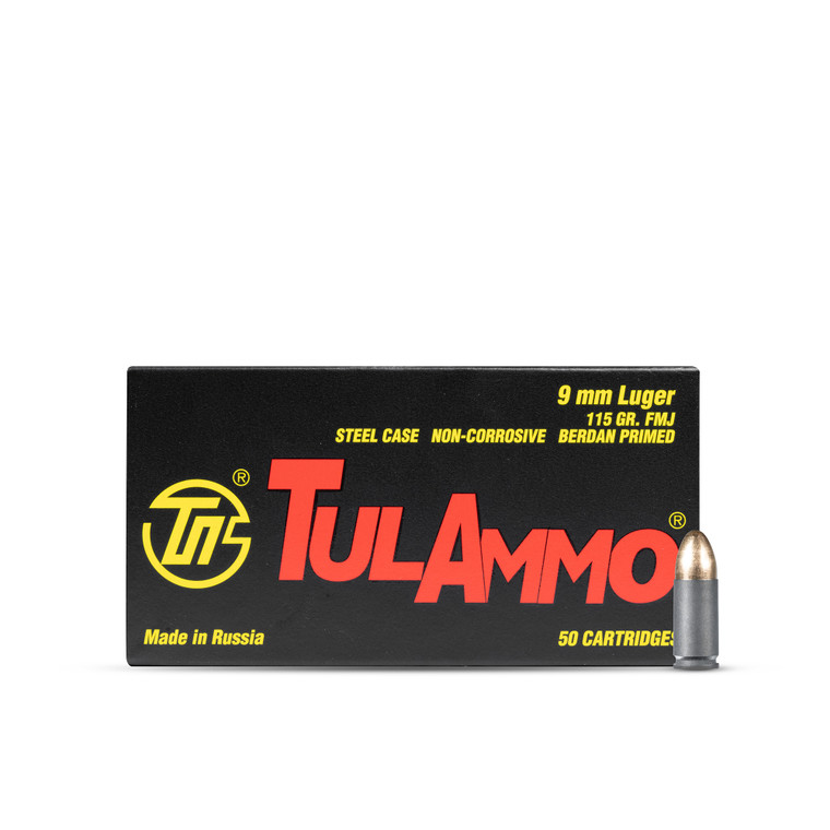 Tula 9mm 115GR Steel Case (1000 rounds)