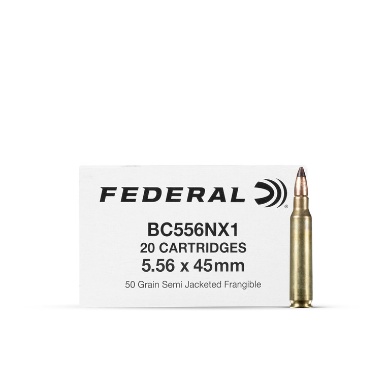 5.56 50GR FEDERAL FRANGIBLE BC556NX1 (500 rounds)