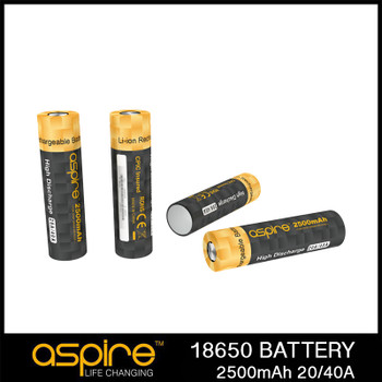 Aspire 18650 Flat Top 2500mAh 20 amp cell