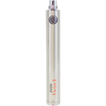 EVOD eGo Twist II Variable Voltage Battery Stainless