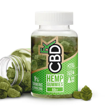CBDfx Gummy Bears Turmeric and Spirulina