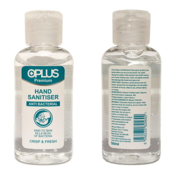 OPLUS PREMIUM HAND SANITISER GEL 50ML