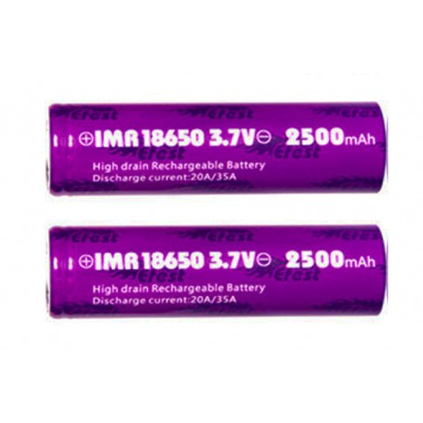 eFest 18650 Flat Top 2500mAh Battery