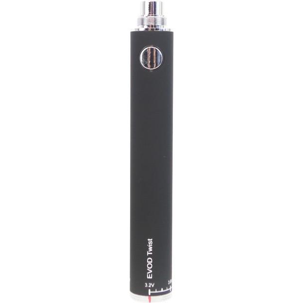 EVOD eGo Twist II Variable Voltage Battery Black