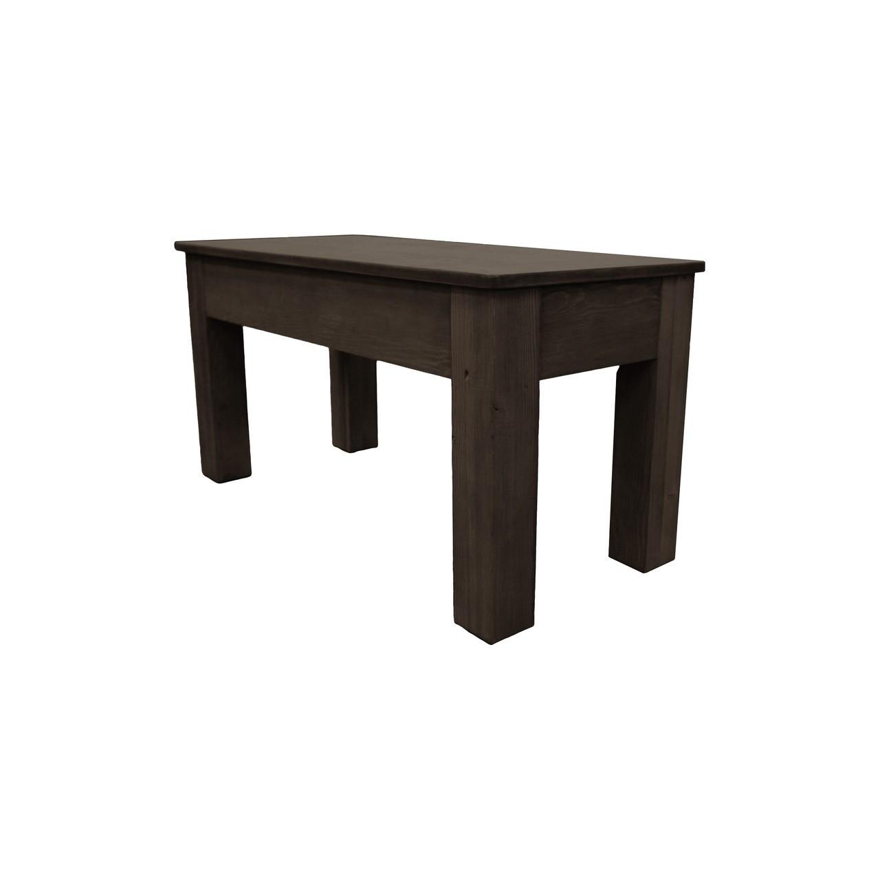 36 Inch Long Dark Chestnut Bench