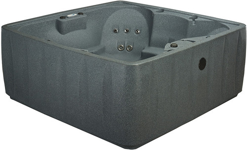 AquaRest Spas brings you the AR-600, the 6-person hot tub with 19 self-controlled multilevel stainless steel jets that ease away the tension of the day. Great for family time or entertaining, the AR-600's lustrous interior is fitted with cup holders and luxury armrests. The patented LED backlit waterfall has nine colorful light settings to help set the perfect mood. This energy-efficient model is kept at your desired temperature thanks to a thermal rod friction heater, foam barrier and a marine-grade vinyl thermal cover. The durable, lightweight design of the AR-600 along with its simple set-up makes it the ideal spa for year-round enjoyment in your back yard, garden or vacation home.