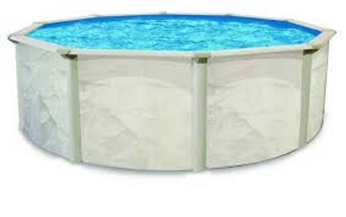 """The Echo pool has incredible value built right into it.  Designed with active families in mind, the Echo features strength and beauty and is an attractive addition to any family's home.  The Mist-colored pool frame includes a 6"""" steel ledge and a 5"""" steel post, both protected with polyester paint and clear topcoat."""