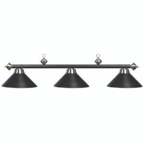 Matte Black/Stainless Billiard Lamp