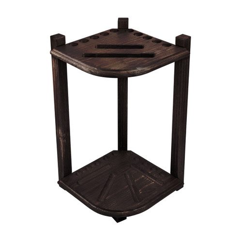Imperial Double Thick Corner Rack--Weathered Dark Chestnut