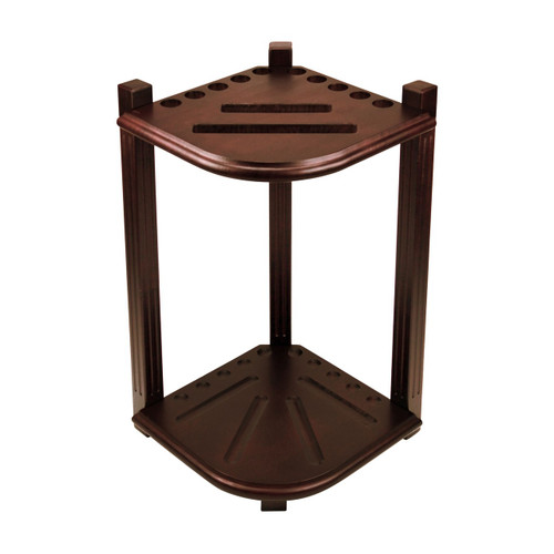 Imperial Double Thick Corner Rack--Antique Walnut