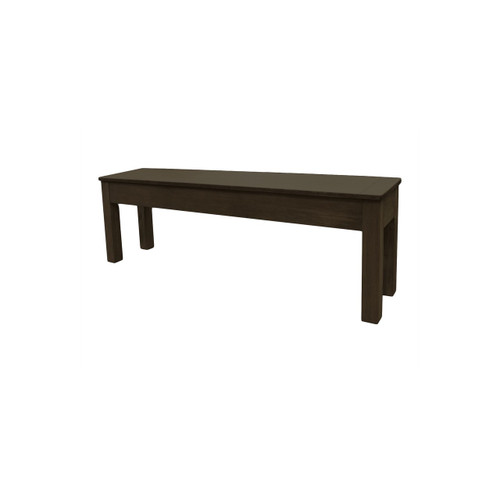76 Inch Dark Chestnut Bench