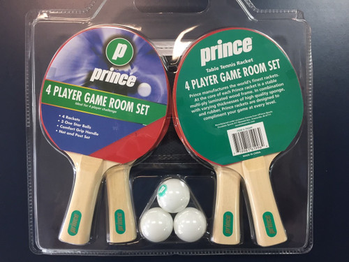 Prince 4 Player Table Tennis Game Room Set