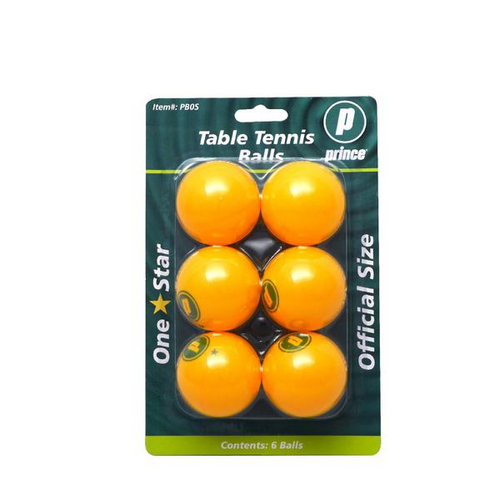 Prince Orange 1 Star Table Tennis Balls