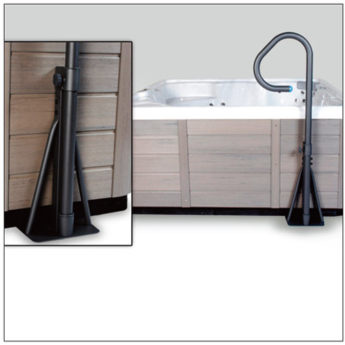 Spa Side Handrail with Base & LED
