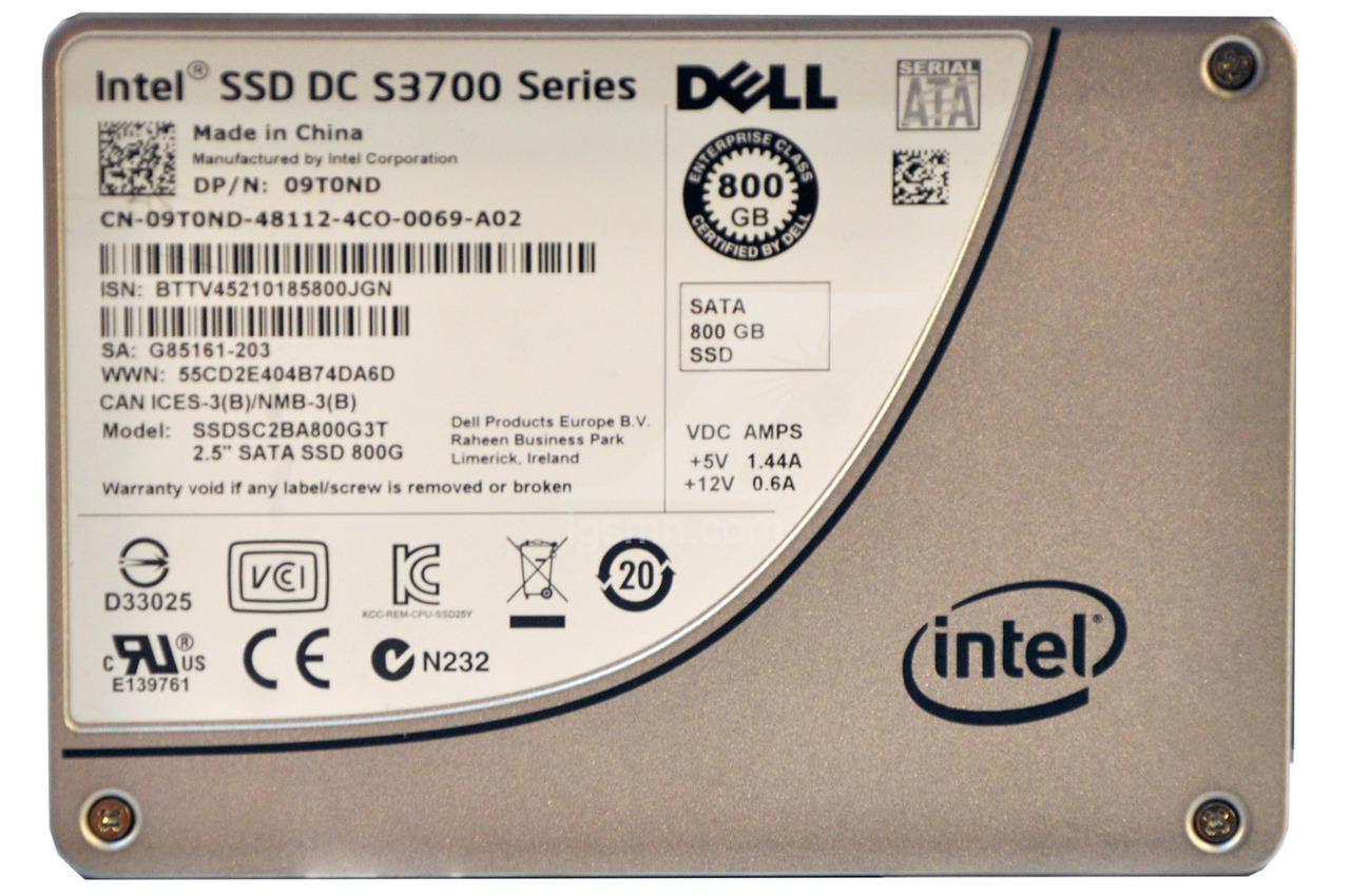 Dell Dell 9T0ND 800GB 6Gbps 2.5 MLC SATA SSD Internal Solid State Hard Drive