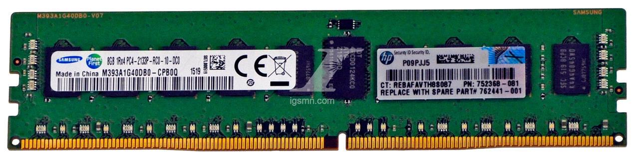 HPE HPE HP 774170-001 8GB PC4-2133P-R 2133MHz CL15 ECC DDR4 SDRAM Server Memory Module