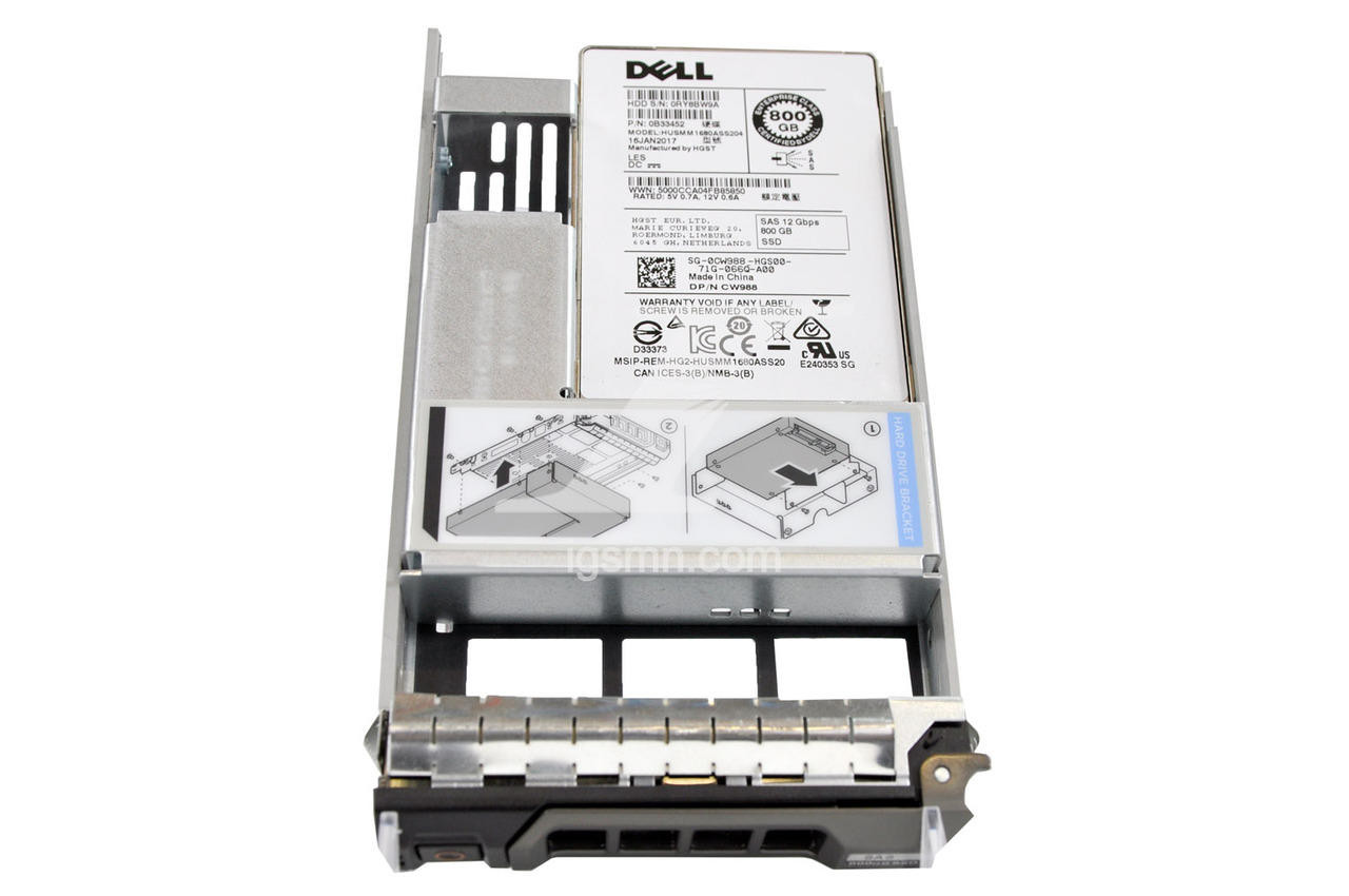 Dell Dell CW988 800GB 12Gbps 2.5 MLC SAS SSD Solid State Drive