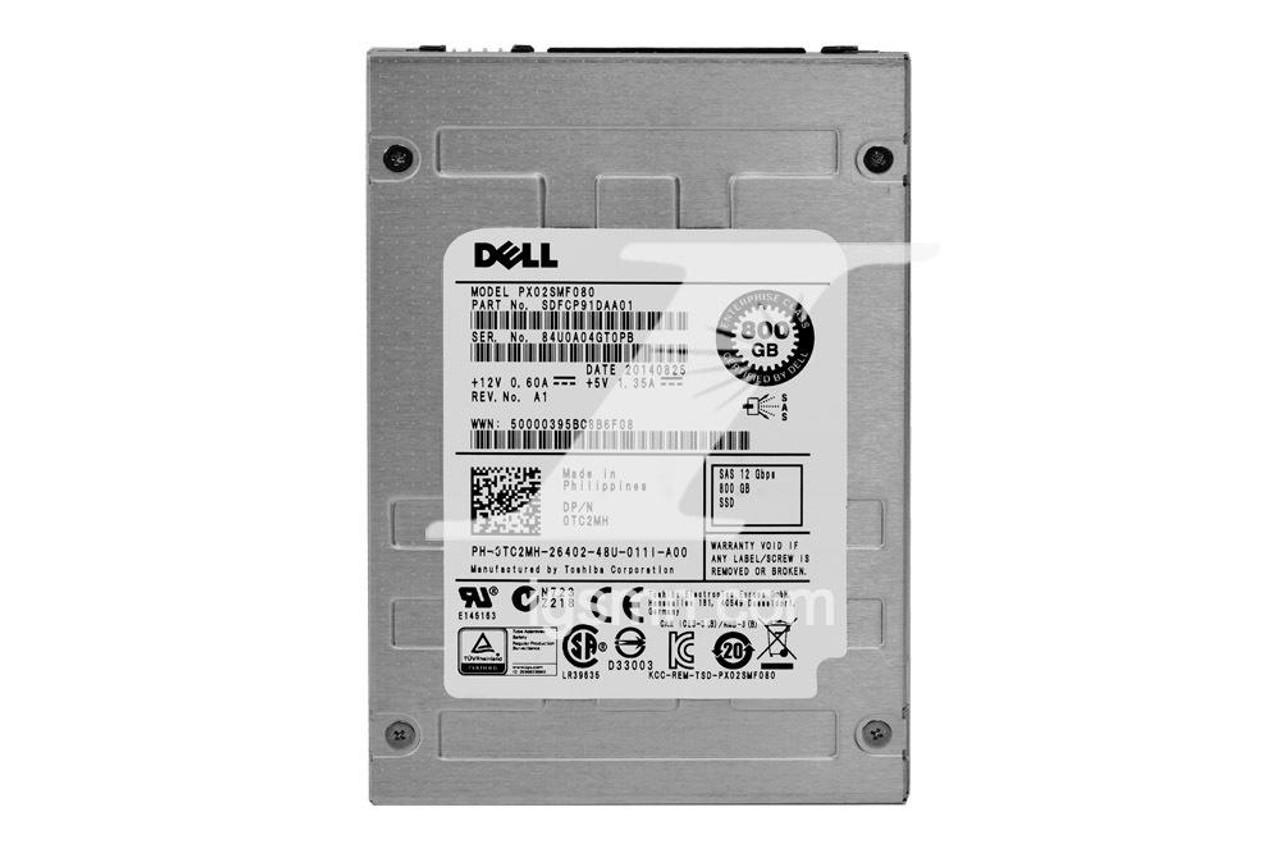 Dell Dell TC2MH 800GB SAS 12G RI MLC 2.5 SSD Internal Solid State Drive