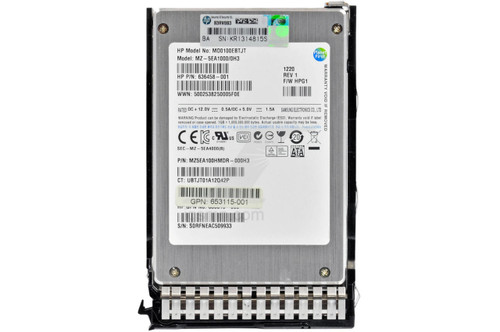 HPE HPE HP 653112-B21 100GB 3Gbps 2.5 MLC SATA SSD Internal Solid State Drive