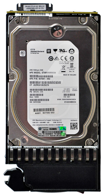 HPE HPE HP 801557-001 4TB 7.2K 12Gbps SAS MSA MDL 3.5 SAS Internal Hard Drive